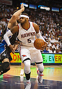 28 April 2011: Atlanta's Josh Smith (5) in Atlanta Hawks 84-81 victory over the Orlando Magic in Eastern Conference First Round Game 6 at Philips Arena in Atlanta, GA.