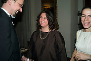 Hannah Rickards winner, Dinner at the Italian Embassy in which the winner of the MaxMara Art Prize ( in collaboration with the Whitechapel art gallery )for Women is announced. Grosvenor Sq. London. 29 January 2008.  -DO NOT ARCHIVE-© Copyright Photograph by Dafydd Jones. 248 Clapham Rd. London SW9 0PZ. Tel 0207 820 0771. www.dafjones.com.