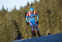 Alexander Loginov (RUS) in action during the Men 10km Sprint at day 6 of IBU Biathlon World Cup 2018/19 Pokljuka, on December 7, 2018 in Rudno polje, Pokljuka, Pokljuka, Slovenia. Photo by Vid Ponikvar / Sportida
