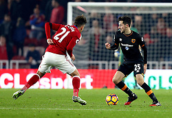 Ryan Mason of Hull City takes on Gaston Ramirez of Middlesbrough - Mandatory by-line: Robbie Stephenson/JMP - 05/12/2016 - FOOTBALL - Riverside Stadium - Middlesbrough, England - Middlesbrough v Hull City - Premier League
