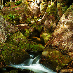 The Lost RIver in Lost River Gorge in New Hampshire's White Mountains. North Woodstock.