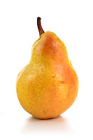 Studio shot of pear on white background