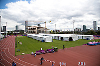 Athletics - 2017 IAAF London World Athletics Championships - Day One<br /> <br /> Athletes preparation area just outside the stadium <br /> <br /> <br /> COLORSPORT/DANIEL BEARHAM