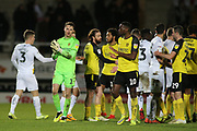 End of the game during the EFL Sky Bet League 1 match between Burton Albion and Oxford United at the Pirelli Stadium, Burton upon Trent, England on 11 February 2020.