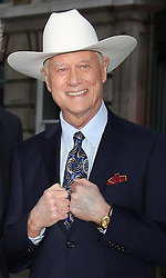 Death of Larry Hagman. Larry Hagman arriving at the launch of the new series of Dallas in London, August 2012. .Photo by: Stephen Lock / i-Images