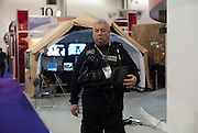 General views from inside the ExCel Exhibition Hall in London UK where the worlds biggest arms fair takes place on September 13th 2011...Photos Ki Price