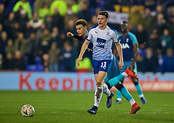 BIRKENHEAD, ENGLAND - Friday, January 4, 2019: Tranmere Rovers' Connor Jennings and Tottenham Hotspur's Dele Alli during the FA Cup 3rd Round match between Tranmere Rovers FC and Tottenham Hotspur FC at Prenton Park. (Pic by David Rawcliffe/Propaganda)