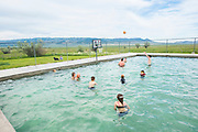 Family fun at Durfee Hot Springs in Almo, Idaho near Castle Rock State Park and the City of Rocks National Reserve. MR