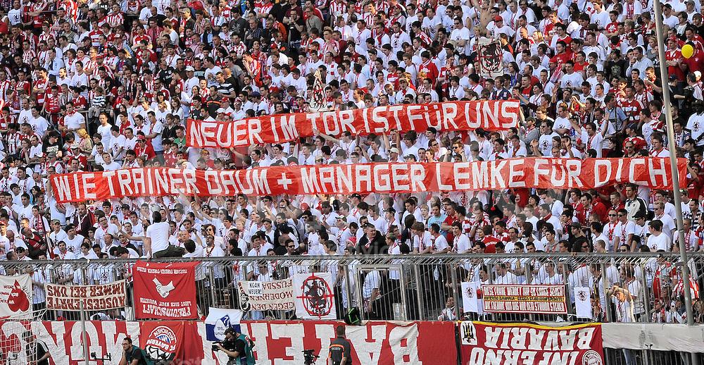 Fussball 1 Bundesliga Fankurve Vom Fc Bayern Muenchen Mit