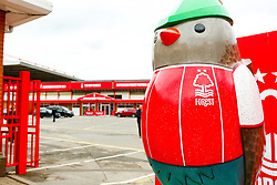 The City Ground Robin, part of the Nottingham Hoodwinked A Twist On The Tale series at the entrance of the The City Ground, home to Nottingham Forest - Mandatory by-line: Ryan Crockett/JMP - 22/09/2018 - FOOTBALL - The City Ground - Nottingham, England - Nottingham Forest v Rotherham United - Sky Bet Championship