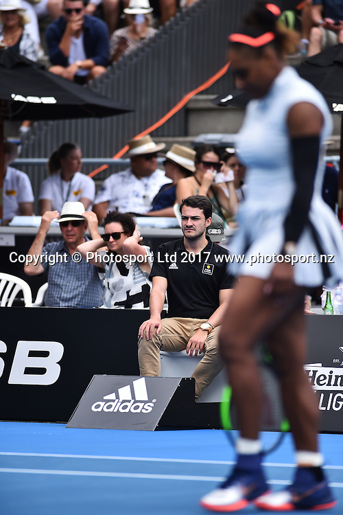 Line umpire during the ASB Classic WTA Womens Tournament Day 2. ASB Tennis Centre, Auckland, New Zealand. Tuesday 3 January 2017. ©Copyright Photo: Chris Symes / www.photosport.nz