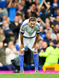 Nemanja Matic of Chelsea looks dejected after conceding the third goal - Mandatory byline: Matt McNulty/JMP - 07966386802 - 12/09/2015 - FOOTBALL - Goodison Park -Everton,England - Everton v Chelsea - Barclays Premier League