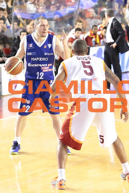 DESCRIZIONE : Roma Lega A 2012-2013 Acea Roma Lenovo Cantu playoff semifinale gara 1<br /> GIOCATORE : Nicolas Mazzarino<br /> CATEGORIA : ritratto curiosita<br /> SQUADRA : Lenovo Cantu<br /> EVENTO : Campionato Lega A 2012-2013 playoff semifinale gara 1<br /> GARA : Acea Roma Lenovo Cantu<br /> DATA : 24/05/2013<br /> SPORT : Pallacanestro <br /> AUTORE : Agenzia Ciamillo-Castoria/M.Simoni<br /> Galleria : Lega Basket A 2012-2013  <br /> Fotonotizia : Roma Lega A 2012-2013 Acea Roma Lenovo Cantu playoff semifinale gara 1<br /> Predefinita :