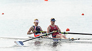 Eton, United Kingdom.  Bow, Caragh McMURTRY and Olivia CARNEGIE-BROWN, competing in the Women's Pair  Sat. time trial.  2011 GBRowing Trials, Dorney Lake. Saturday  16/04/2011  [Mandatory Credit; Peter Spurrier/Intersport-images] Venue For 2012 Olympic Regatta and Flat Water Canoe events.