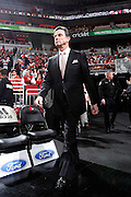 LOUISVILLE, KY - FEBRUARY 6: Louisville Cardinals head basketball coach Rick Pitino walks to the court before the game against the Connecticut Huskies at KFC Yum! Center on February 6, 2012 in Louisville, Kentucky. The Cardinals defeated the Huskies 80-59. (Photo by Joe Robbins)