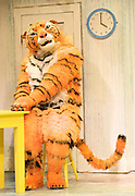 The Tiger Who Came To Tea<br /> by  Judith Kerr<br /> at the Vaudeville Theatre, London, Great Britain <br /> Press photocall<br /> 6th July 2011 <br /> <br /> Alan Atkins (as Tiger / Daddy)<br /> Photograph by Elliott Franks