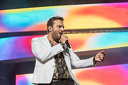 June 20, 2018 - Milan, Milano, Italy - Italian singer Cesare Cremonini performs on stage at Stadio Meazza San Siro on June 20, 2018 in Milan, Italy. (Credit Image: © Romano Nunziato/NurPhoto via ZUMA Press)
