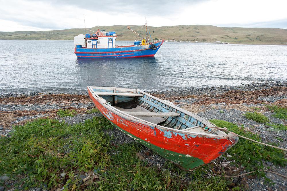 fishing boat, Strait of Magellan, chile, south america