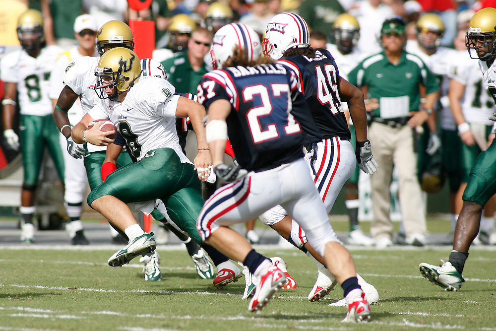 October 6, 2007 - Ft. Lauderdale, FL<br /> <br /> #8 Matt Grothe of the South Florida Bulls in action during the University of South Florida's 35-23 victory over Florida Atlantic University at Lockhart Stadium in Ft. Lauderdale, Florida.<br /> <br /> JC Ridley/CSM