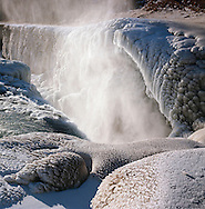 Gullfoss í klakaböndum / The frozen waterfall Gullfoss