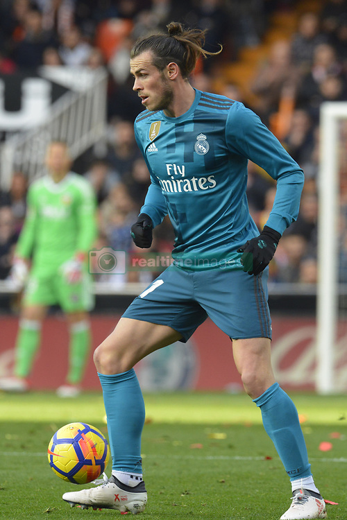 January 27, 2018 - Valencia, Spain - Gareth Bale during the match between Valencia CF against Real Madrd, week 21 of La Liga 2017/187 at Mestala stadium, Valencia, SPAIN - 27th January of 2018. (Credit Image: © Jose Breton/NurPhoto via ZUMA Press)