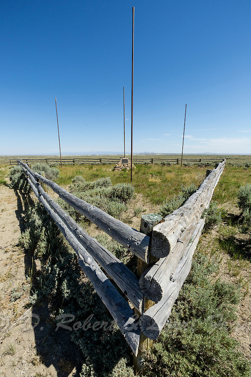Tri-territories historic site in the Red Desert of Wyoming