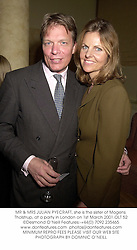 MR & MRS JULIAN PYECRAFT, she is the sister of Mogens Tholstrup, at a party in London on 1st March 2001.OLT 52