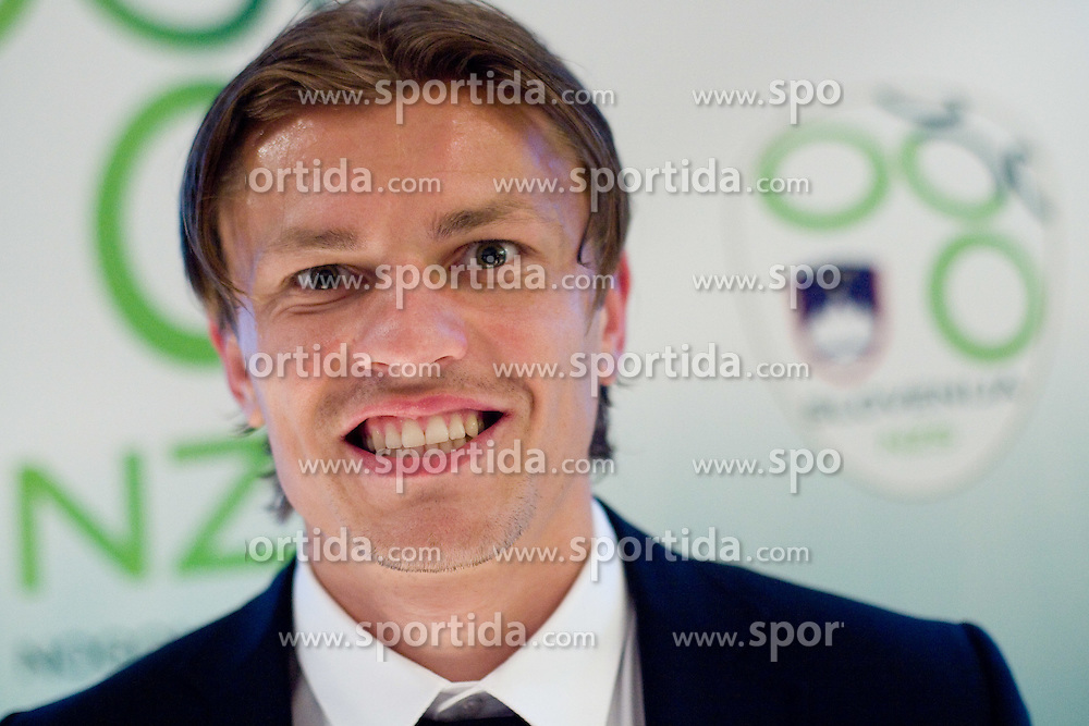 Zlatko Dedic at official presentation of Slovenian National Football team for World Cup 2010 South Africa, on May 21, 2010 in Congress Center Brdo at Kranj, Slovenia. (Photo by Vid Ponikvar / Sportida)