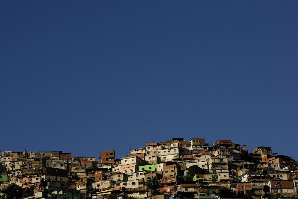 A view of El Guarataro, a poor hillside slum in western Caracas