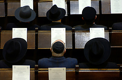 BRUSSELS, BELGIUM - JAN-30-2005 -  A memorial service is held at the Grand Synagogue in Brussels in remembrance of the liberation of the notorious Nazi concentration camp at Auschwitz. (REPORTERS © JOCK FISTICK)