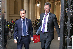 © Licensed to London News Pictures. 14/11/2018. London, UK. Alun Cairns - Secretary of State for Wales and Jeremy Wright QC  - Culture Secretary arrives in Downing Street to attend a Brexit Cabinet Meeting. Ministers will discuss, agree and vote on Brexit deal. Photo credit: Dinendra Haria/LNP