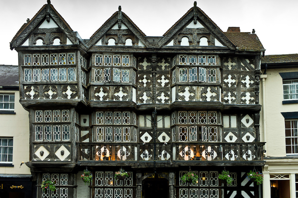 Tudor style timber-framed house in Corve Street, Ludlow, Shropshire, UK