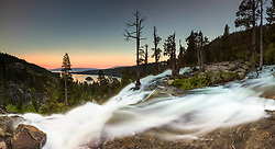 """Eagle Falls at Emerald Bay 3"" - Photograph taken at sunset of Eagle Falls and Emerald Bay, Lake Tahoe."