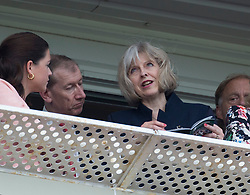 Image ©Licensed to i-Images Picture Agency. 19/07/2014. , United Kingdom. Home Secretary Theresa May  attends Newbury races. Newbury ,Berkshire Picture by i-Images
