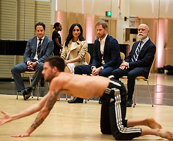 The Duke and Duchess of Sussex watch a performance by the Bangarra Dance Company at the Sydney Opera House on the first day of the Royal couple's visit to Australia.