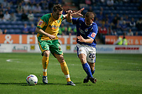Photo: Pete Lorence.<br />Leicester City v Norwich City. Coca Cola Championship. 14/04/2007.<br />Darren Huckerby battles James Wesolowski.