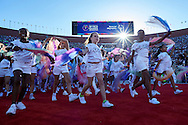 Opening ceremony of the Special Olympics World Games Los Angeles 2015 at the Los Angeles Coliseum Stadium on July 25, 2015 in Los Angeles, USA.<br /> USA, Los Angeles, July 25, 2015<br /> <br /> Picture also available in RAW (NEF) or TIFF format on special request.<br /> <br /> For editorial use only. Any commercial or promotional use requires permission.<br /> <br /> Adam Nurkiewicz declares that he has no rights to the image of people at the photographs of his authorship.<br /> <br /> Mandatory credit:<br /> Photo by © Adam Nurkiewicz / Mediasport