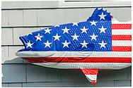 American Flag Fish Symbol, Braun Seafood, 30840 Main Road<br /> Cutchogue,Long Island, New York