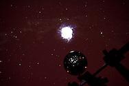 Anzi (PZ) 12.08.2009 Italy - Il Planetario, osservatorio astronomico realizzato in località Santa Maria sul  Monte Siri. Nella Foto: Una dimostrazione del funzionamento del planetario con la proiezione della volta celese. Foto Giovanni Marino