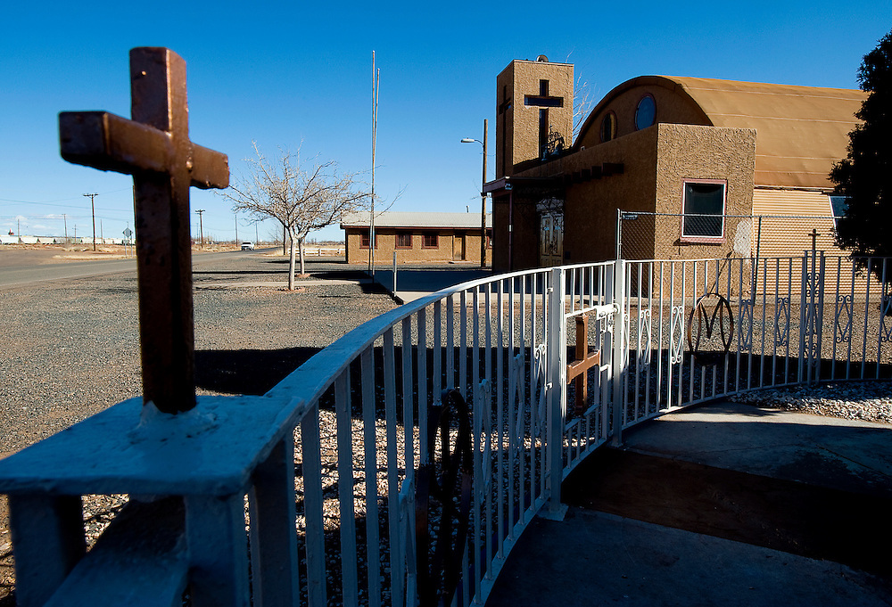 021809    Brian Leddy.Madre de Dios Catholic Church in Winslow, Ariz. was the alleged site of sexual abuse involving the Rev. John Boland and 14-year-old Marcus Rogers 26-years-ago.
