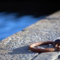 Mooring ring, Conleau island, town of Vannes, departament of Morbihan, region of Brittany, France