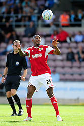 Bristol City's Marvin Elliott heads the ball  - Photo mandatory by-line: Dougie Allward/JMP - Tel: Mobile: 07966 386802 11/08/2013 - SPORT - FOOTBALL - Sixfields Stadium - Sixfields Stadium -  Coventry V Bristol City - Sky Bet League One