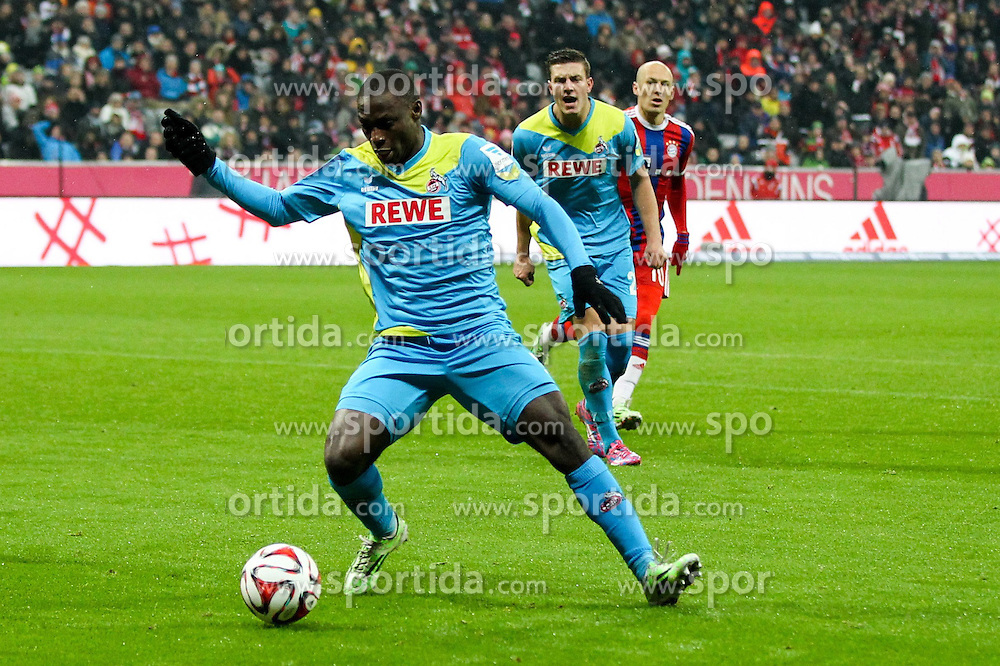27.02.2015, Allianz Arena, Muenchen, GER, 1. FBL, FC Bayern Muenchen vs 1. FC K&ouml;ln, 23. Runde, im Bild Anthony Ujah #9 (1. FC Koeln) // during the German Bundesliga 23rd round match between FC Bayern Munich and 1. FC K&ouml;ln at the Allianz Arena in Muenchen, Germany on 2015/02/27. EXPA Pictures &copy; 2015, PhotoCredit: EXPA/ Eibner-Pressefoto/ EXPA/ Kolbert<br /> <br /> *****ATTENTION - OUT of GER*****