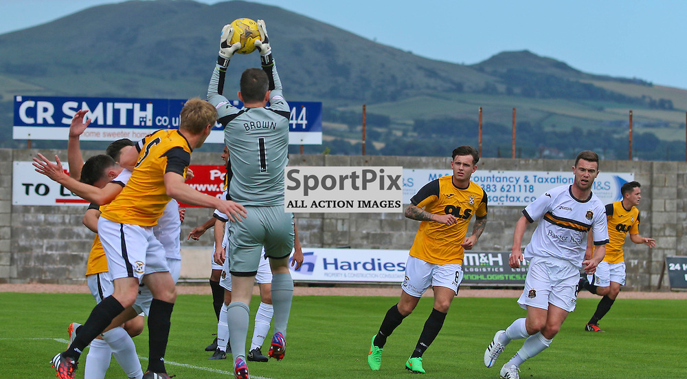 brown saves from east fife pressure East Fife v Dumbarton League Cup 1st august 2015 (c) Andy Scott | SportPix.org.uk