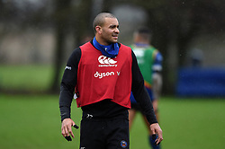Jonathan Joseph looks on. Bath Rugby training session on January 16, 2020 at Farleigh House in Bath, England. Photo by: Patrick Khachfe / Onside Images