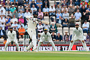 Moeen Ali of England batting during the first day of the 4th SpecSavers International Test Match 2018 match between England and India at the Ageas Bowl, Southampton, United Kingdom on 30 August 2018.