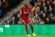 Liverpool midfielder Naby Keïta (8) vents his frustration during the EFL Cup match between Milton Keynes Dons and Liverpool at stadium:mk, Milton Keynes, England on 25 September 2019.