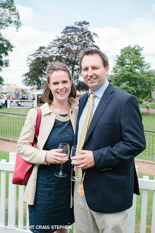 Royal Highland Show, 2014. Amelia and Louis Fell, Trustee of Royal Agricultural Society of the Commonwealth. PAYMENT TO CRAIG STEPHEN 07905 483532