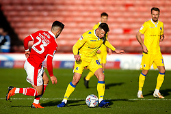 Ollie Clarke of Bristol Rovers takes on Daniel Pinillos of Barnsley - Mandatory by-line: Robbie Stephenson/JMP - 27/10/2018 - FOOTBALL - Oakwell Stadium - Barnsley, England - Barnsley v Bristol Rovers - Sky Bet League One