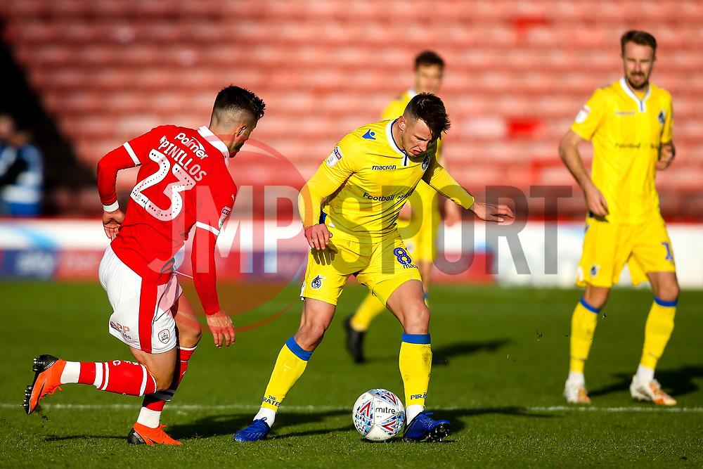 Ollie Clarke of Bristol Rovers takes on Daniel Pinillos of Barnsley - Mandatory by-line: Robbie Stephenson/JMP - 27/10/2018 - FOOTBALL - Oakwell Stadium - Barnsley, England - Barnsley v Bristol Rovers - Sky Bet League One